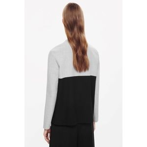 COS Black & Grey Color Block Long Sleeved Top